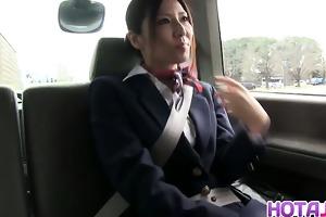 youthful stewardess yuna shiina enjoys