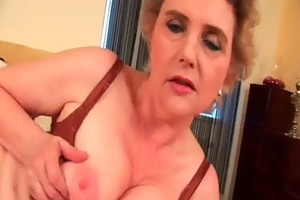 granny with large tits and unshaved snatch bonks