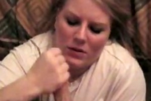 blonde wife large facial