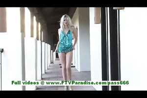 layden hawt golden-haired woman toying slit with