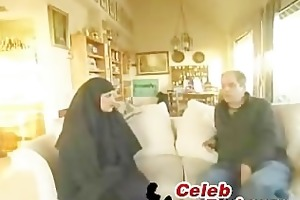 arab wife drilled by an old chap