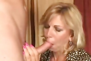 marvelous blond mother i drilled by a younger chap