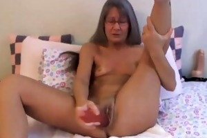 lovely diminutive granny leilani with glasses