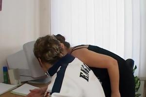 aged teacher seduces youthful student