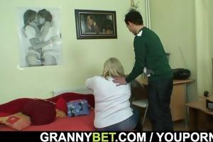 a pleasant surprise for massive granny