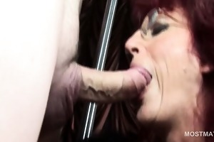 older hookers licking man butt and engulfing