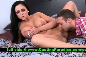 audrey bitoni brunette hair muff licked