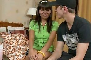 perverted legal age teenager worships older pecker