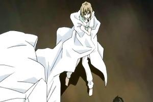 manga twink having a love moment wih his dude