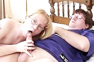golden-haired d like to fuck wearing glasses