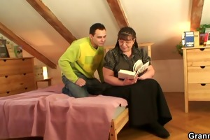 obese bookworm bitch receives pounded by sexually