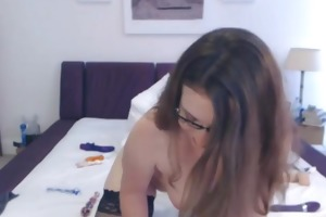 breasty d like to fuck double sex-toy web camera