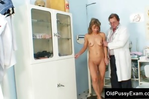 vladimira older old vagina speculum gyno exam