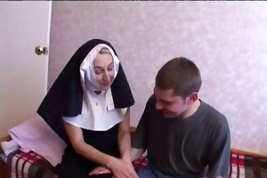 nun copulates with youthful lads