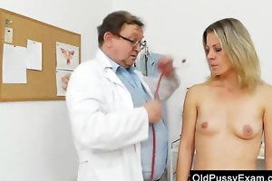 smoking-hot golden-haired lady getting a gyno