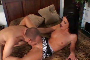 mrs. roberts screws in front of husband