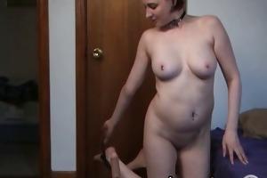 blond dilettante wife using fucking machine