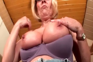 perverted aged in glasses stripping and teasing