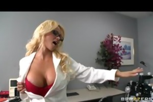 bigtit blond bitch milf doctor fucked hard by
