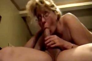 aged deepthroat eats cum by troc