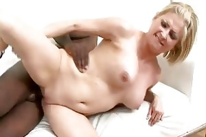 blonde d like to fuck sucks and copulates a large