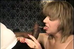 swinger wife eating the large dark jock - homemade