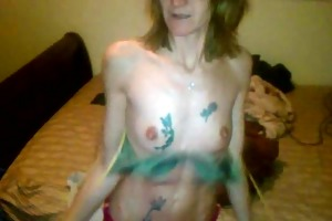 drunk skinny wife stripping