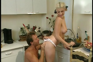 daddy fills sexy mammas holes with all sorts of