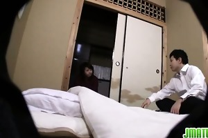 hot aged japanese breasty gal likes to receive it