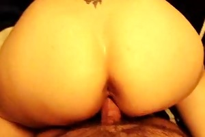 large arse wife receives doggystyled and jizzed
