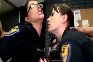 cfnm police women demand bawdy cleft pounding in