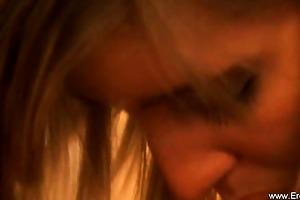 glamorous erotic golden-haired milf is nervous