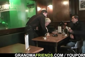 guys bang completely drunk granny