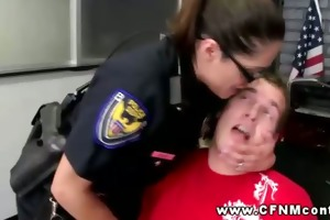 lustful police hotties with their targets getting