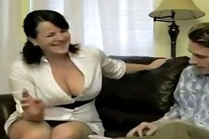 sexy breasty smokin mom bangs soninlaw