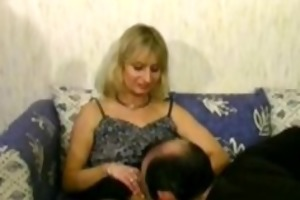 blond aged cheats on her spouse