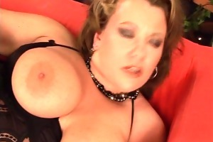 large breasted woman cant lick her own tit (clip)