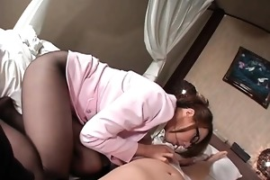 charming oriental mother i takes off his panties