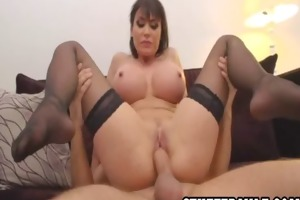 dark haired mother i playgirl with large bra