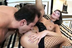 outstanding hot floozy in nylons teasing,