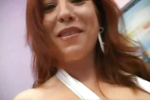 large boobed redhead mama in white part4