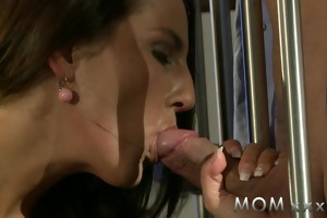 mamma lascivious brunette desires his penis