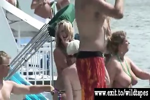 public nudity and sex at water party
