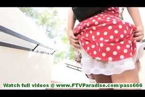 carolyn badass blond playgirl flashing cookie and