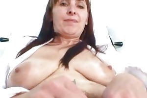 older mom karin shows off unshaved vagina bizarre