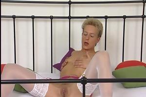 older german blond masturbating