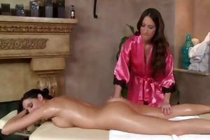 masseuse lesbos engulfing on love button for her